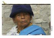 Face Of Ecuador Woman At Cotacachi Carry-all Pouch