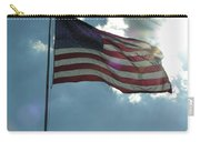 Face Of Jesus In Cloud W Flag 9 11 Remembered  Carry-all Pouch