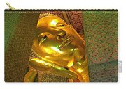 Face Of Reclining Buddha In Wat Po In Bangkok-thailand Carry-all Pouch