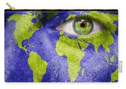 Face The World Map Carry-all Pouch