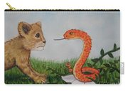 Face To Face Were A Lion And Snake Carry-all Pouch