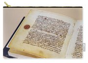 Facsimile Of A 13th Century Koran Carry-all Pouch
