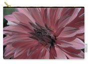 Faded Pink Dahlia Carry-all Pouch