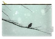 Abstract Faded Winter Carry-all Pouch