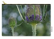 Fading Teasel Flower Carry-all Pouch