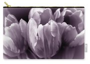 Fading Tulip Flowers Lavender Gray Monochrome Carry-all Pouch