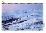 Fairfield Covered In Snow At Sunset Carry-all Pouch