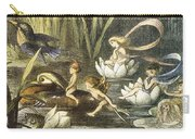 Fairies And Water Lilies Circa 1870 Carry-all Pouch