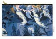 Fairies In The Moonlight French Textile Carry-all Pouch by Photo Researchers