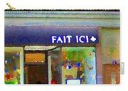 Fait Ici Organic General Store Notre Dame Corner Charlevoix St Henri Shops City Scene Carole Spandau Carry-all Pouch