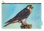 Falcon On Stump Carry-all Pouch