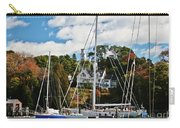 Fall And The Sailboats Carry-all Pouch