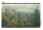 Fall Color And Fog Near Garberville California Carry-all Pouch