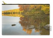 Fall Colors On Taylor Pond Mount Vernon Maine Carry-all Pouch by Keith Webber Jr