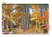 Fall Driveway And Coco The Dog Carry-all Pouch