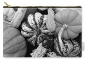Fall Gourds Black And White Carry-all Pouch