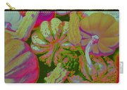 Fall Gourds Pinked Carry-all Pouch