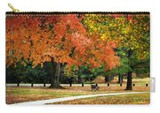 Fall In The Park Carry-all Pouch by Christina Rollo