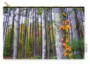 Fall Ivy In Pine Tree Forest Carry-all Pouch