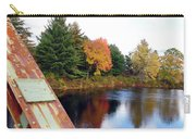 Fall Landscape Old Bridge Maine Carry-all Pouch