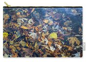 Fall Leaves In A Pond Carry-all Pouch