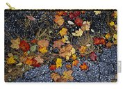 Fall Leaves On Pavement Carry-all Pouch by Elena Elisseeva
