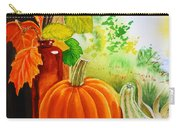 Fall Leaves Pumpkin Gourd Carry-all Pouch