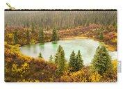 Fall Rain On Wilderness Lake Yukon T Canada Carry-all Pouch
