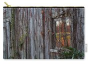 Fall Reflections On Weathered Glass Carry-all Pouch