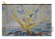 Fall Tree On The Rocks Carry-all Pouch