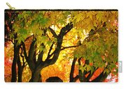 Fall Trees On A Country Road 3 Carry-all Pouch