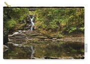 Fall Waterfall Creek Reflection Carry-all Pouch by Christina Rollo