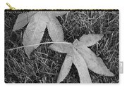 Fallen Autumn Leaves In The Grass During Morning Frost Carry-all Pouch