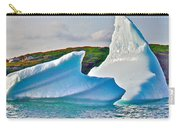 Fallen Clouds Iceberg Closeup In Saint Anthony Bay-newfoundland-canada  Carry-all Pouch