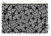 Fallen Leaves Black And White Kaleidoscope Carry-all Pouch