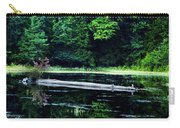 Fallen Log In A Lake Carry-all Pouch by Bill Cannon
