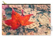 Fallen Red Leaf Carry-all Pouch