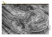 Fallen Tree Bark Bw Carry-all Pouch