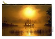 Fallen Tree In Misty Sunrise At Carry-all Pouch
