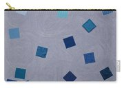 Falling Blue Squares Carry-all Pouch