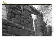 Falling Wall Jerome Black And White Carry-all Pouch