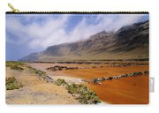 Famara Cliffs And Salinas Del Rio On Lanzarote Carry-all Pouch