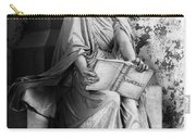 Famiglia Dell Acqua Memorial Marker II Bw Monumental Cemetery Carry-all Pouch