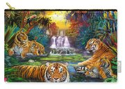 Family At The Jungle Pool Carry-all Pouch by Jan Patrik Krasny