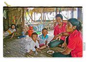 Family In Countryside Outside Of Siem Reap-cambodia Carry-all Pouch