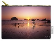Family On Beach Face Rock Bandon Carry-all Pouch
