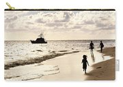Family On Sunset Beach Carry-all Pouch