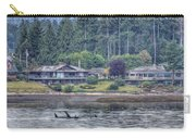 Family Outing - Orcas Carry-all Pouch by Randy Hall