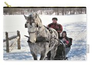 Family Sleigh Ride Carry-all Pouch