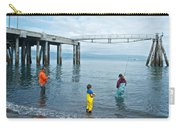 Family Surf Fishing In Kachemak Bay Off Homer Spit-ak Carry-all Pouch
